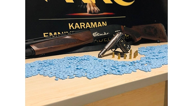 Karaman'da 2 Bin Ecstasy Hap Ele Geçirildi