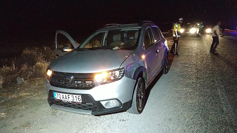 Karaman'da Sigortacıya Otomobil Çarpıp Kaçtı