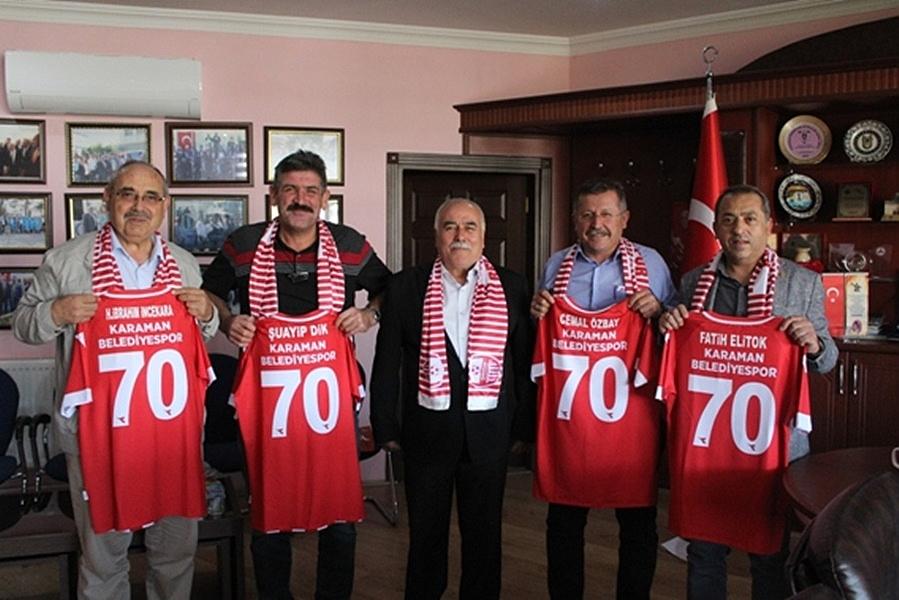 KESOB Yönetim Kurulundan Karaman Belediye Spora Destek