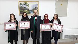 Genç Avukatlar Ruhsatlarını Aldı