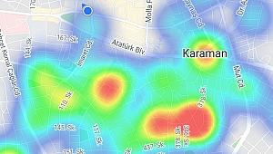Karaman'ın Korkutan Koronavirüs Haritası
