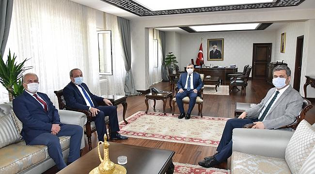 Konya İl Emniyet Müdürü Mustafa Aydın'dan Nezaket Ziyareti