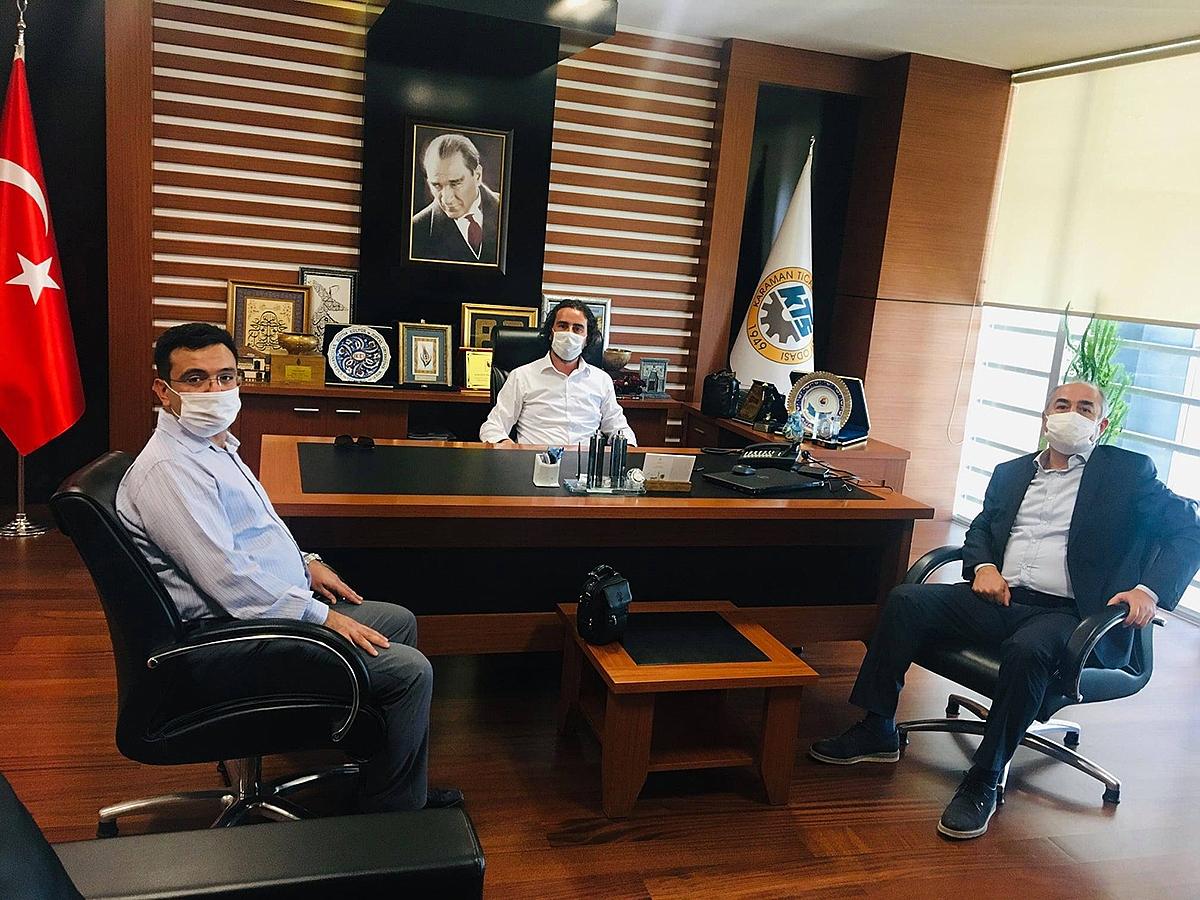 Karaman Vakıflar Bankası İl Müdürü Mustafa Sözügüzel'den KTSO'ya Ziyaret