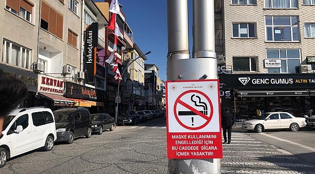 Karaman'da Sigara Yasağının Uygulandığı Alanlara Afiş Ve Levhalar Asıldı