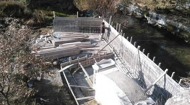 Akköprü'de Yapılan Duvar İnşaatı Durduruldu