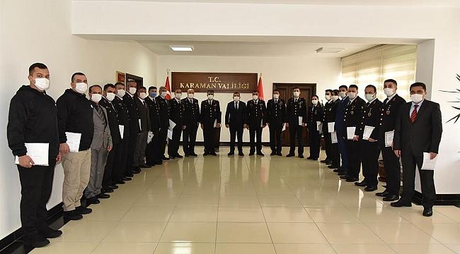 Vali Işık Jandarma Personeline Başarı Belgelerini Verdi