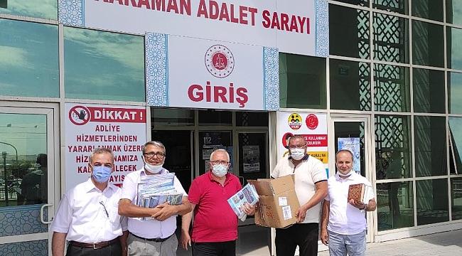 Karaman Türk Ocakları'ndan Cezaevlerine Kitap Bağış Kampanyasına Destek
