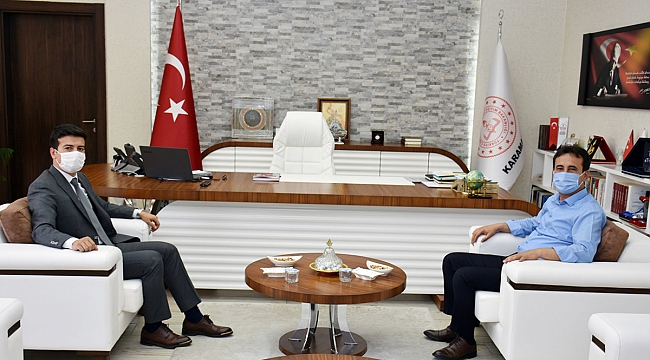 Kaymakam Çetin'den İl Müdürü Çalışkan'a Ziyaret