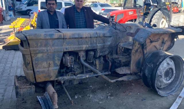 Evi Ve Traktörü Yanan Çiftçinin Zararı 50 Bin Lirayı Buldu